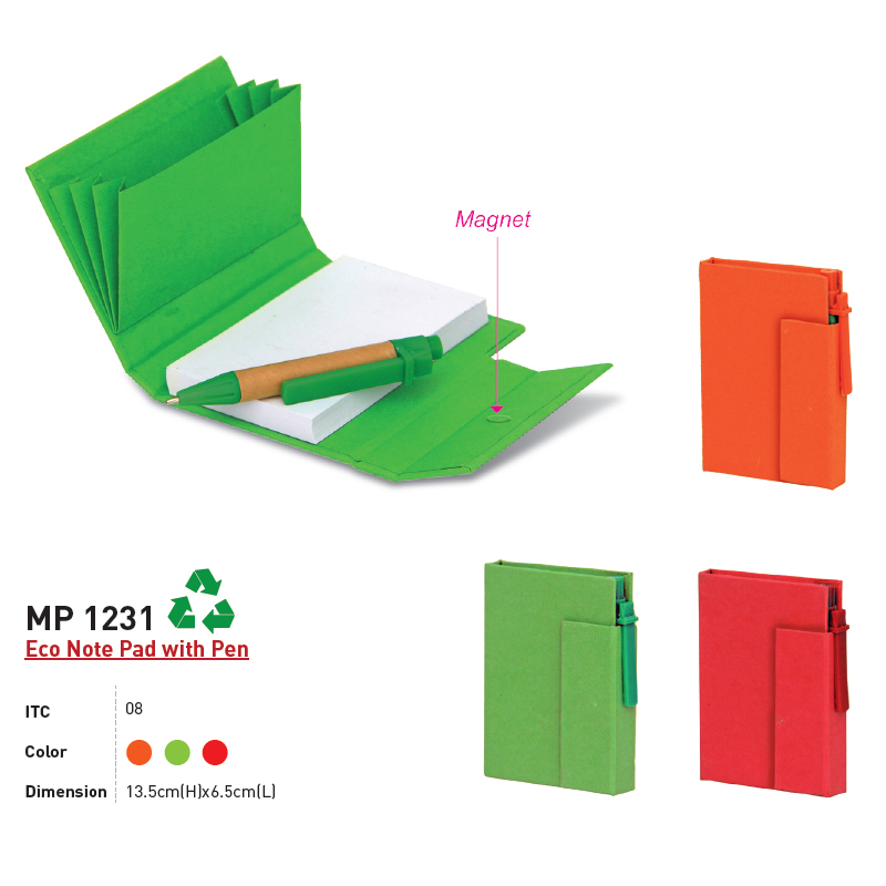 MP 1231 - Eco Note Pad with Pen